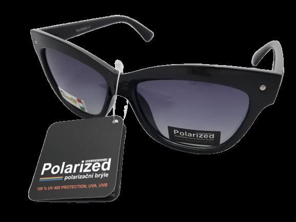 Brýle Polarized polarizační plastové černé s kouřovým sklem