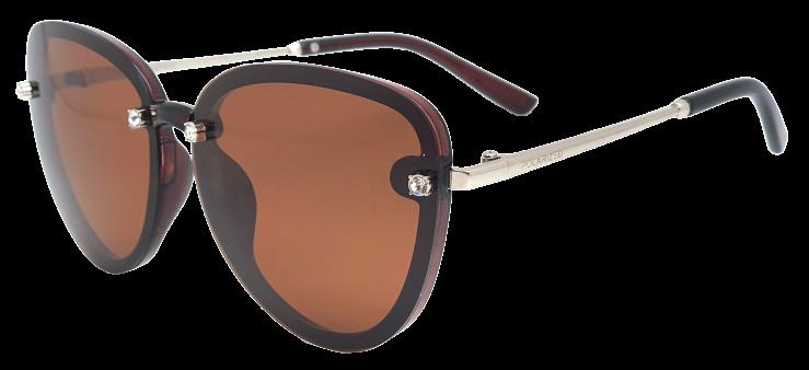 Polarized Brýle polarizační fashion dámské SGLPO2.186 transparentní hnědé