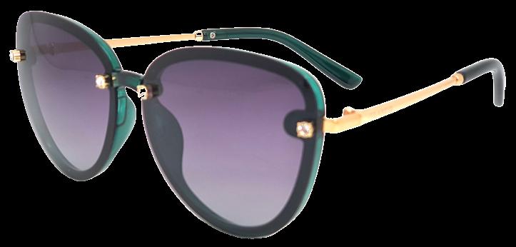 Polarized Brýle polarizační fashion dámské SGLPO2.186 transparentní zelené