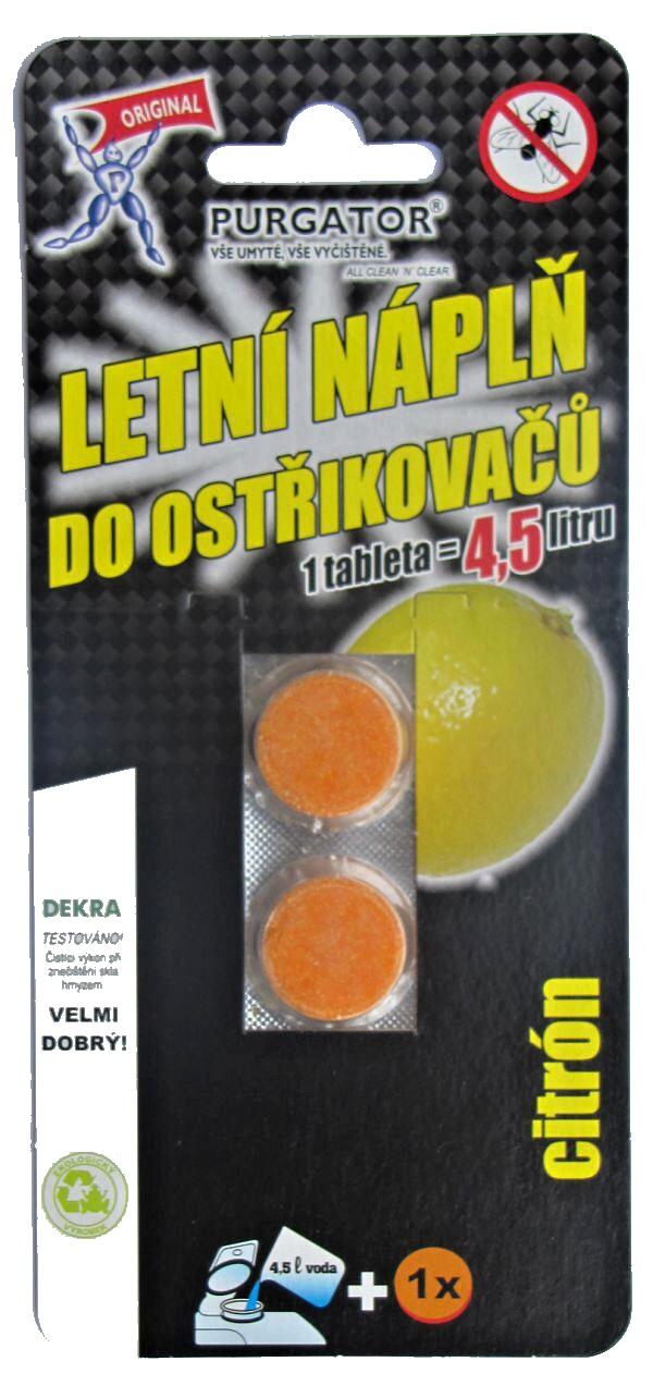 Purgator Tablety do ostřikovače 2ks citron