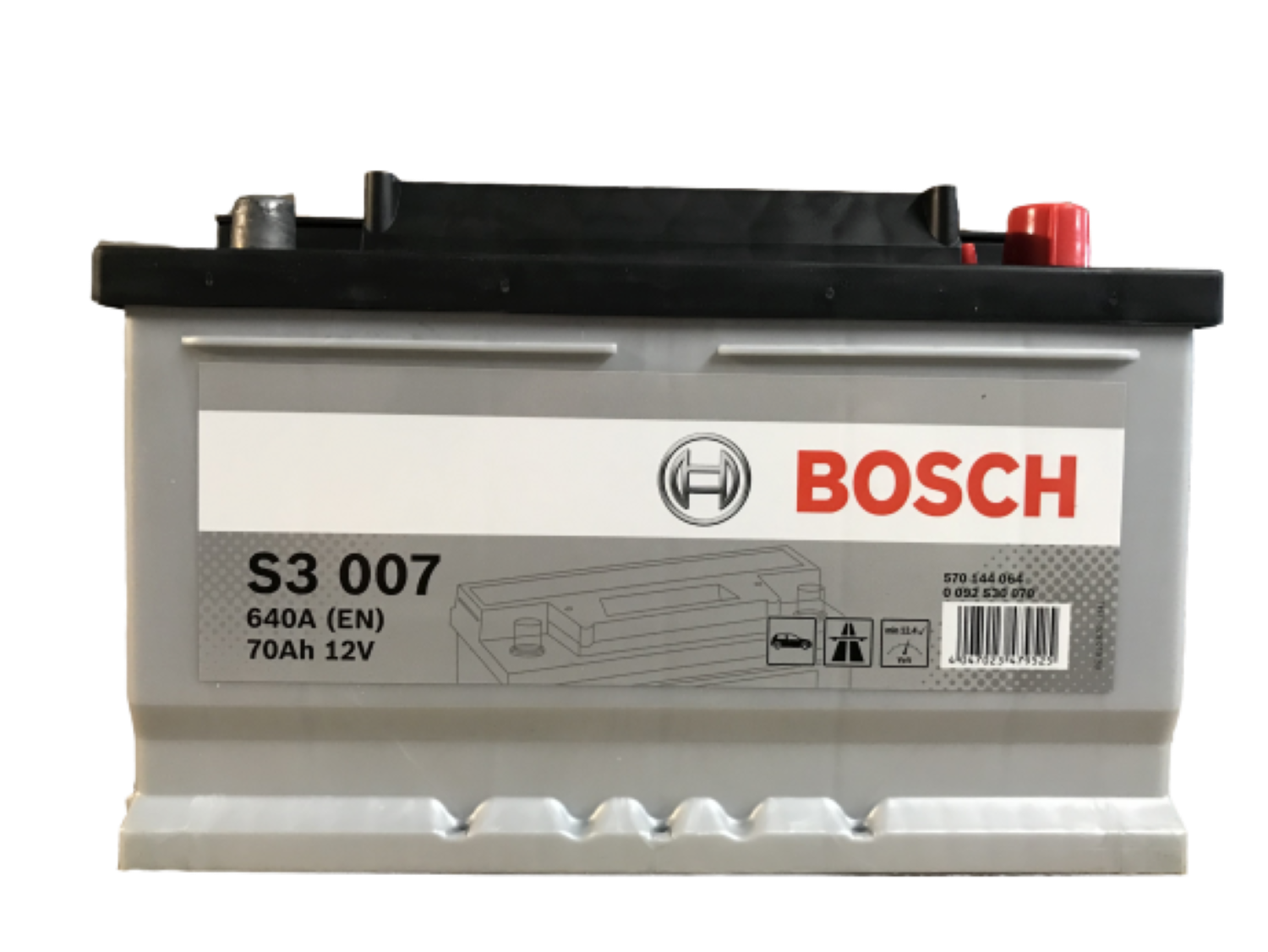 Bosch Autobaterie S3 / 70Ah / 640A / 12V