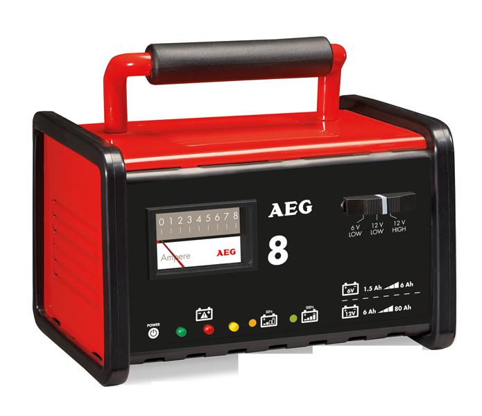 AEG Nabíječka autobaterií kovová 8A 6-12V 2-80Ah