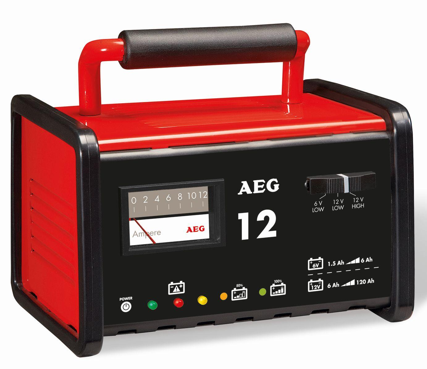 AEG Nabíječka autobaterií kovová 12A 6 - 12V 1,5 - 120Ah