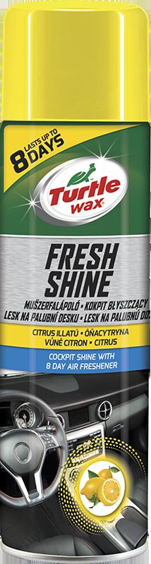 Turtle Wax® FRESH SHINE Lesk na palubní desku s osvěžovačem vzduchu - Citron 500ml