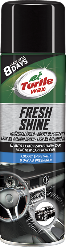 Turtle Wax® Lesk na palubní desku s osvěžovačem vzduchu - New Car 500ml