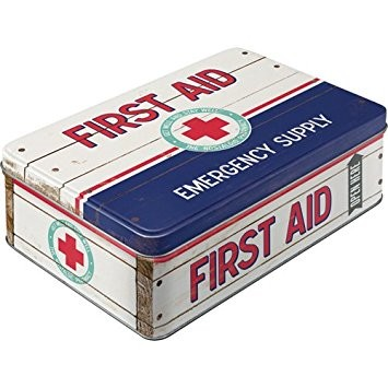 Retro plechová dóza First AID