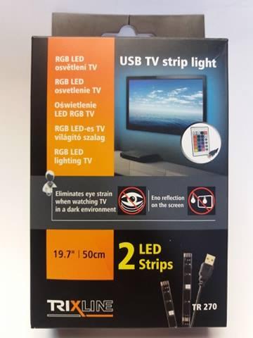 Trixline LED osvětlení televize 2KS 1USB s dálkovým ovladačem