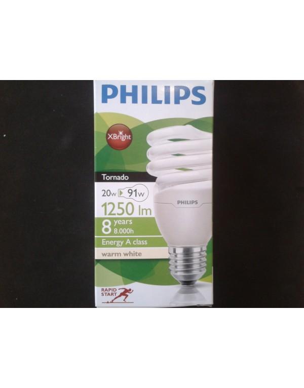 Philips Úsporná žárovka Economy Twister 220V 20W